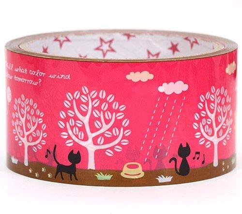 big-pink-Scotch-Tape-with-black-kitty