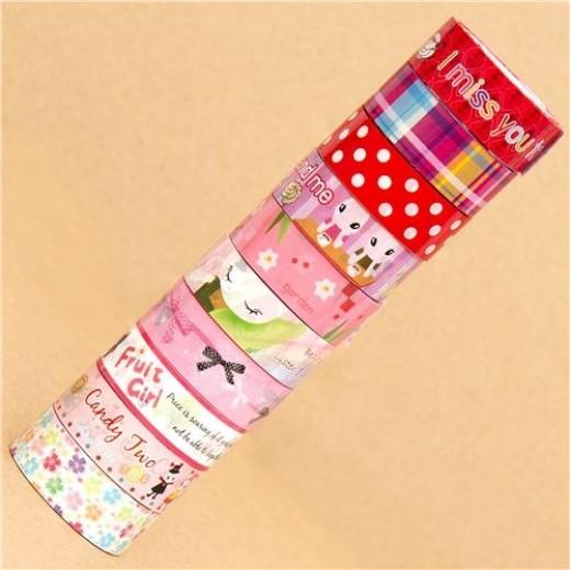 colourful-Deco-Tape-adhesive-tape-10pcs