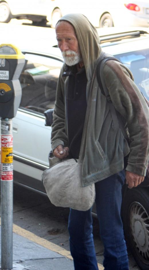 Haight Street Man with Bindle deedsphoto