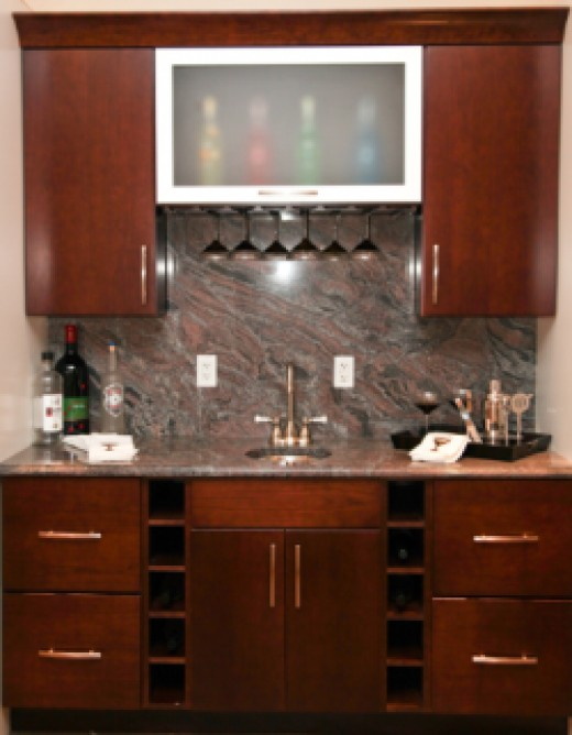 simple basement wet bar ideas