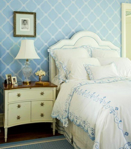 A Calming Blue Bedroom
