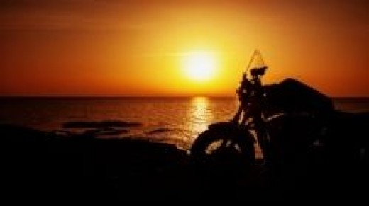 sunset after long ride