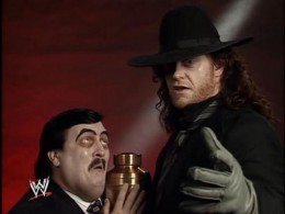 The Undertaker And Paul Bearer during happier times.