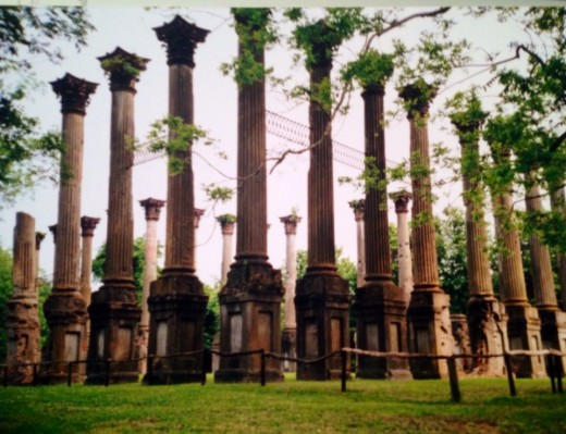 The Ruins of Windsor in Port Gibson, MS