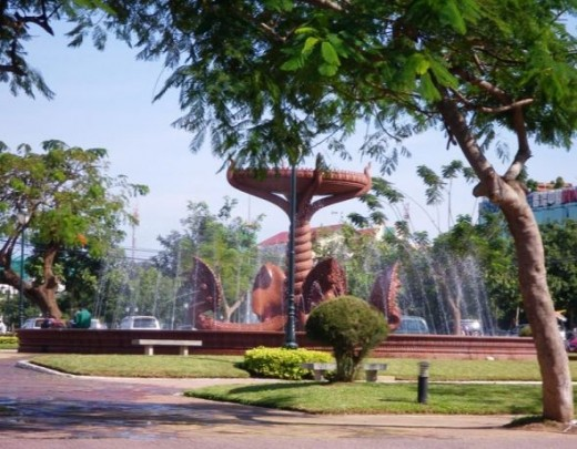 Independence Park in Phnom Penh
