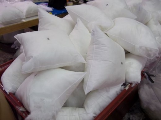Pillow Forms in Bin