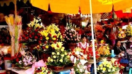 Flower Stall in Phnom Penh