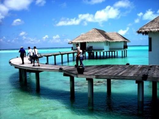 A Resort in the Maldives