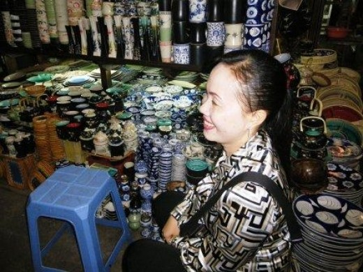 Ceramic Seller in Phnom Penh