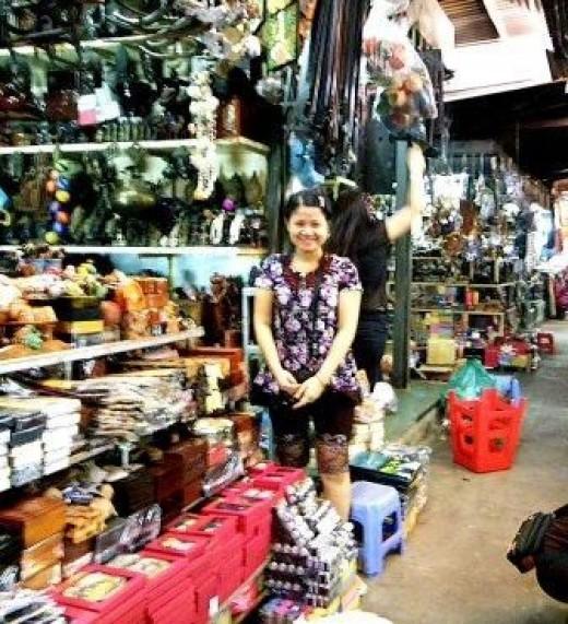 Souvenir Seller in Phnom Penh