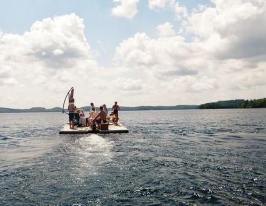 Cruising in the Lake in Summer