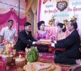 Chewing of the Betel Nut in Khmer Wedding