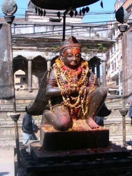 Statue of a Temple God