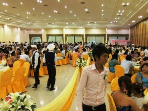 Big wedding reception hall