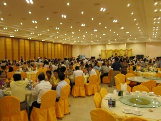A big wedding reception