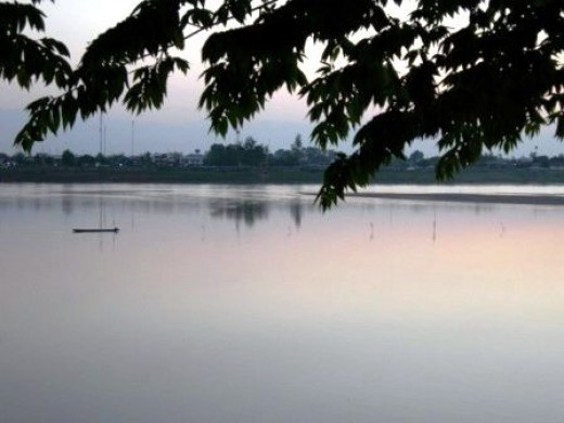 The Mysterious Mekong River in Vientiane