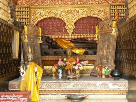Inside Temple in Laos
