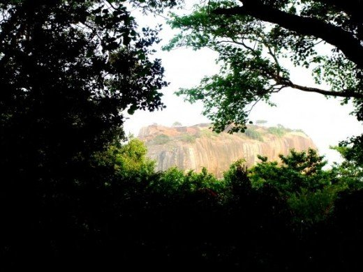 Another picture of the top of Sigiriya