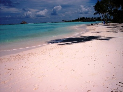 The beach in another resort in Maldives