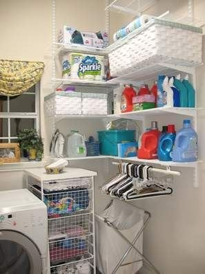 Example of Laundry Room Shelves & Baskets