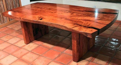 500 Pound Mesquite Table -- A Large Kitchen Needs a Large Table!
