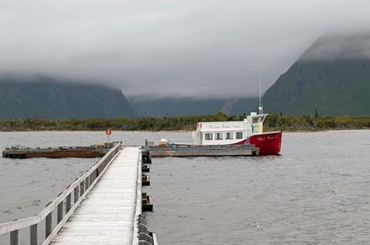 Two tour boats provide regular one hour cruises of the fjord.