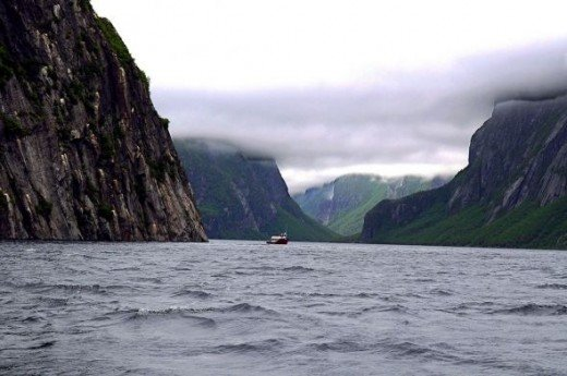 The Western Brook Pond Fjord.