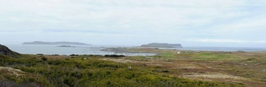 The original Viking settlement site at L'Anse aux Meadows.