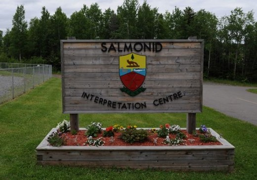 The Salmoid Interpretation Centre entrance.