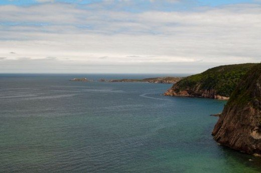 The beautiful Cabot Trail shore.