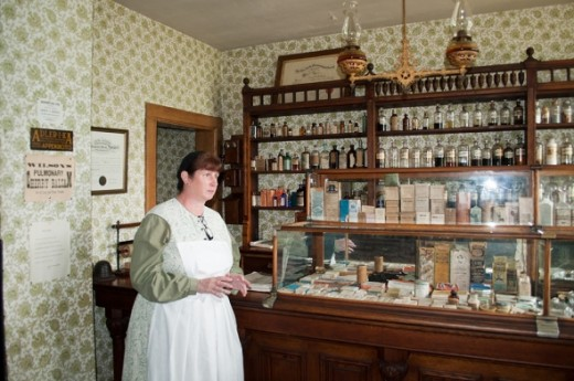 The pharmacy has original medicines in the bottles, which were donated by several drug companies.