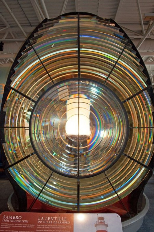 The Sambro Lighthouse lens.
