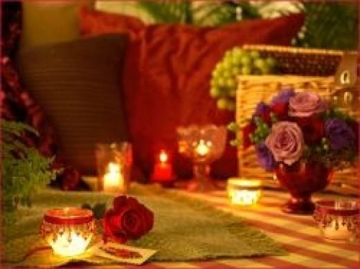 Perfect Romantic Evening Home Garden