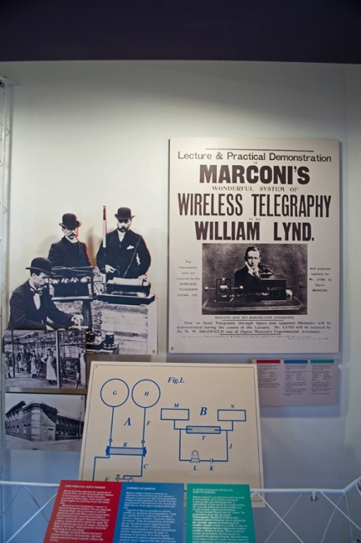 One of the displays at the Marconi museum.