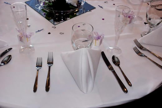 wedding reception with beautiful table decorations and stay under budget