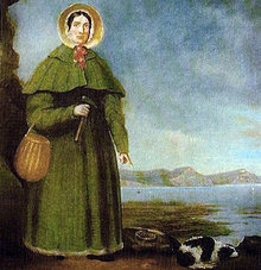 Painting of Mary Anning from Wiklipedia
