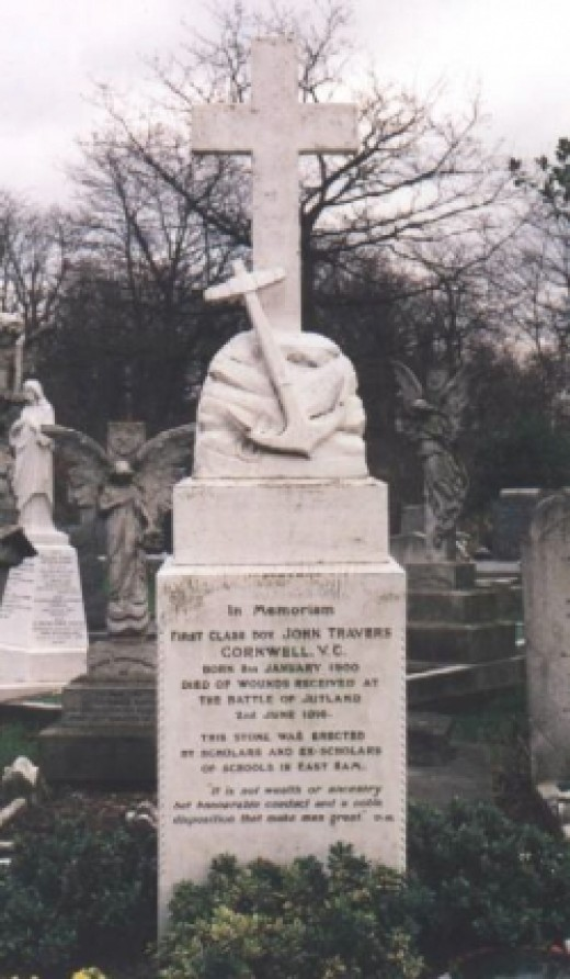 Jack Cornwell's Grave, as depicted on http://www.thescoutingpages.org.uk/cornwell.html