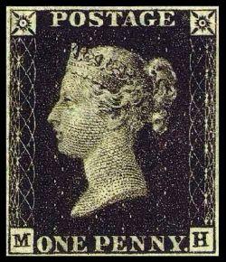 Penny Black postage stamp