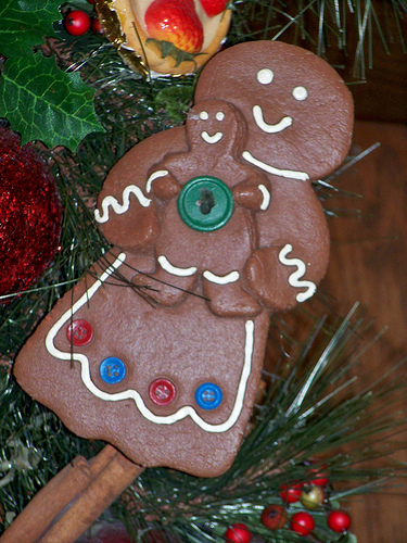 Mother And Child Gingerbread People