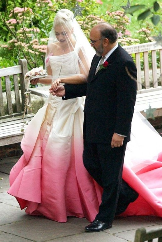 Gwen Stefani's Ombre Wedding Dress