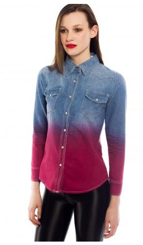 Daisy Street Ombre Shirt