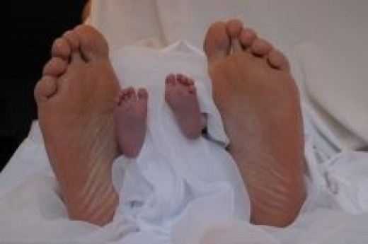 Different Size Feet