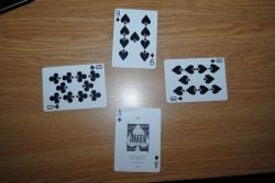 Imagine the nine of spades led - this helps their partner, since they have the ace. Unfortunately, the last person to play trumps it with the nine.