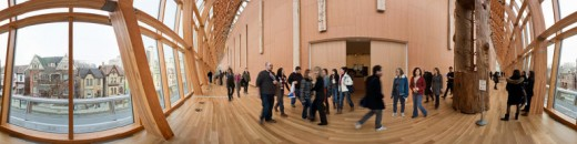 Panoramic view of the Art Gallery of Ontario