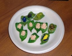 polymer clay frogs