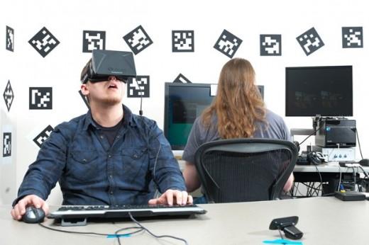 Gamer enjoying Oculus Rift