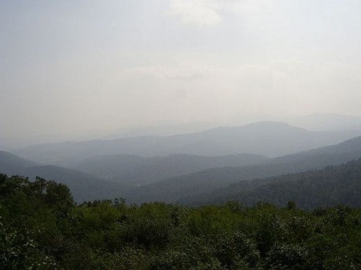 Haze over the Blue Ridge Mountains