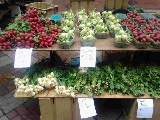 Produce at the St. Paul Farmers' Market