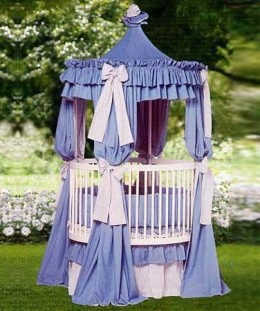 From the Little Miss Liberty Classic Collection...this is The Dakota Universal Canopy Set and it can be found at The Round Baby Crib Company... www.theroundbabycribcompany.com