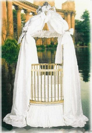 From the Little Miss Liberty Fantasy Collection...This is the Magical Wishes Universal Canopy Set and it can be found at The Round Baby Crib Company... www.theroundbabycribcompany.com